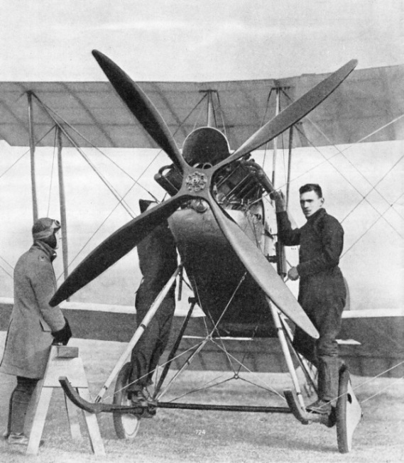 The B.E.2c, a two-seater double-bay tractor biplane