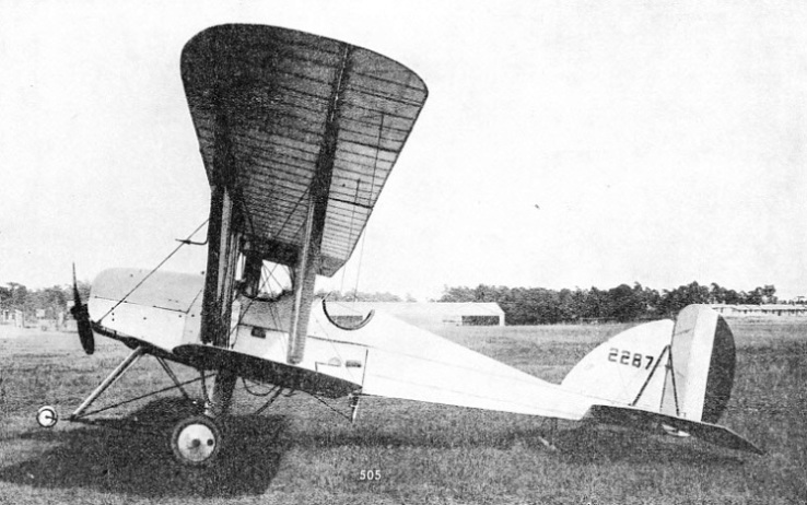 The RE5 was a TWO-SEATER TRACTOR BIPLANE which was used as a day bomber and for reconnaissance work