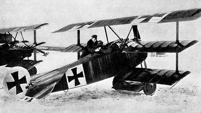 THE MALTESE CROSS was used by the early German military aeroplanes as an identification mark