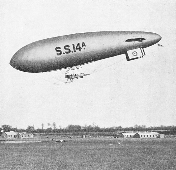 AN AEROPLANE FUSELAGE served as the car on the early Sea Scout type of airship
