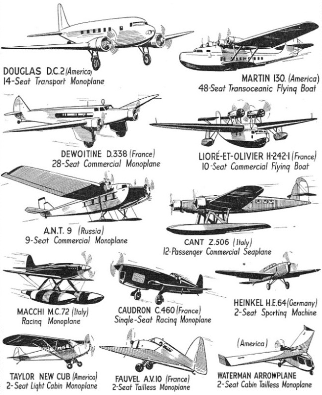 Representative Types of Continental and American Aircraft - 1