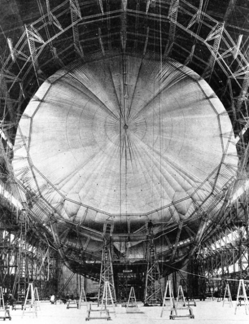 THE INTERNAL STRUCTURE of the R 101 consisted of fifteen main longitudinal members