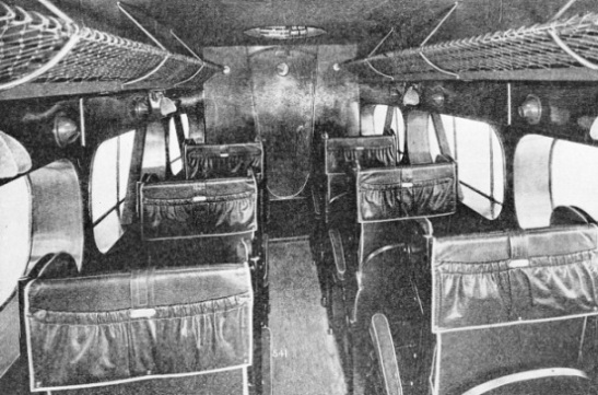 CABIN OF A D.H.86B BIPLANE used on the Railway Air Services