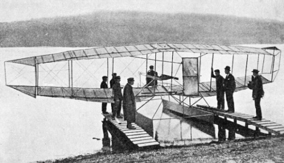 Originally called the June Bug, the aeroplane was renamed Loon when the floats were fitted