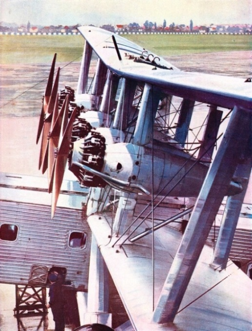 THE FOUR BRISTOL JUPITER ENGINES of the Imperial Airways liner Scylla