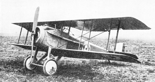 The Spad, a single-seater tractor biplane