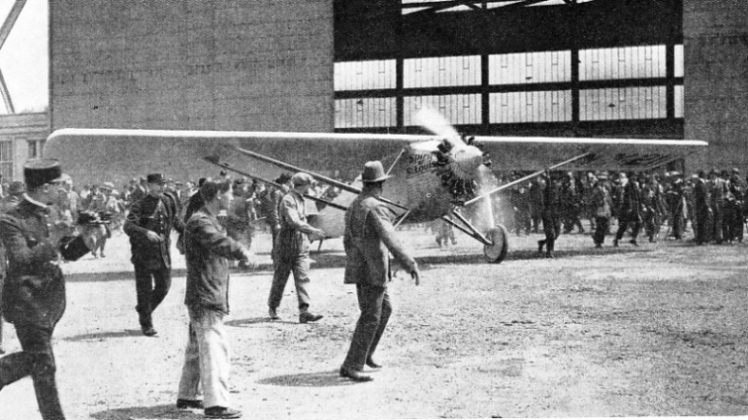 Lindbergh Preparing to Take Off from Le Bourget, Paris