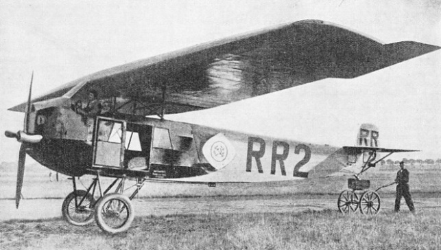 Fokker III early commercial cabin aeroplane