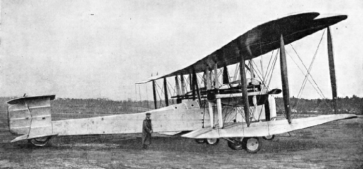 VICKERS VIMY BIPLANE in which Alcock and Brown made their historic flight