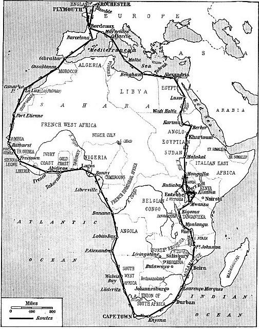 THE AFRICAN COAST was virtually encircled in Sir Alan Cobham's flight