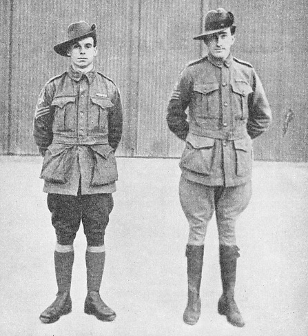 THE TWO MECHANICS, Sergeant Shiers, left, and Sergeant Bennett