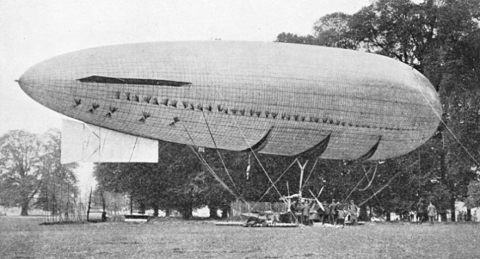 ONE OF THE EARLIEST BRITISH AIRSHIPS was the Beta, which appeared in 1910
