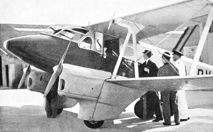 A USEFUL MACHINE for air charter is the De Havilland Dragonfly