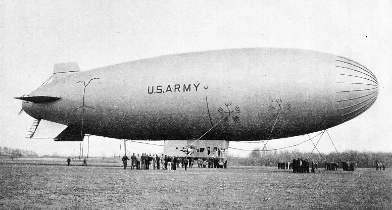 THE LARGEST NON-RIGID AIRSHIP IN AMERICA at the time of her building, in 1933, was the TC 13