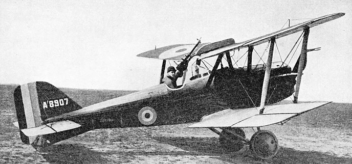 THE SINGLE-SEATER SCOUT in which Captain Ball, VC, brought many enemy aircraft down was an SE 5