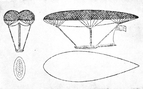DESIGN FOR A NAVIGABLE BALLOON produced in 1816-17 by Sir George Cayley