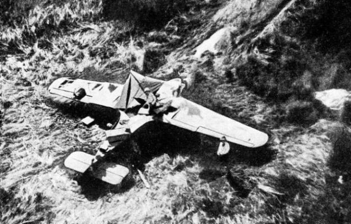 The overturned machine of Brig.-Gen. Lewin, in the Nile swamps