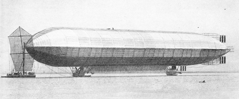 FIRST AIRSHIP TO BE MOORED TO A MAST ON WATER