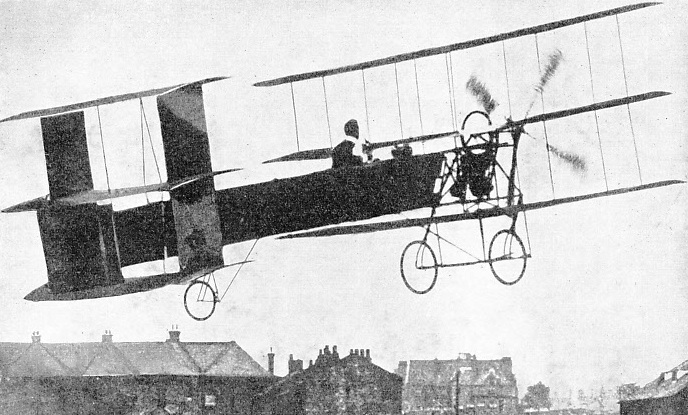 TRACTOR TRIPLANE, in which A V Roe made successful flights in London in 1909