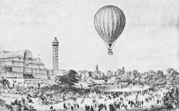 AN ASCENT FROM THE CRYSTAL PALACE, London, was made in The Mammoth Balloon in 1862