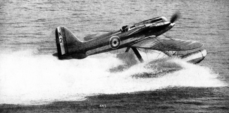 THE SCHNEIDER TROPHY seaplanes of 1927 and 1929 were the ancestors of the modern fighter