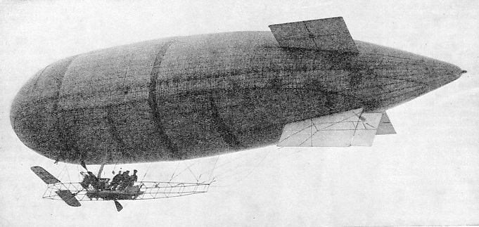 PATROLS OVER ENEMY LINES were carried out in 1914-15 by the British airship Beta