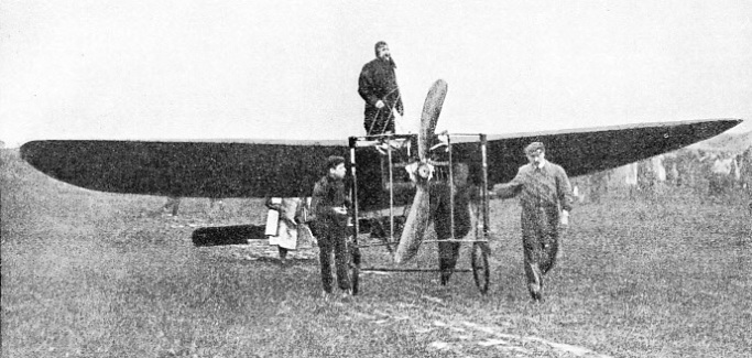 Louis Bleriot in his Monoplane