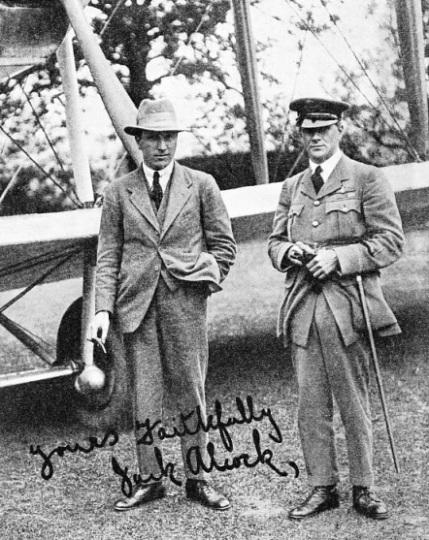 THE FIRST NORTH ATLANTIC FLIERS were Captain John Alcock and Lieutenant Arthur Whitten Brown