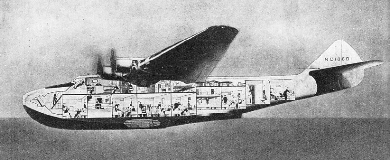 the Boeing 314 four-engined flying boat