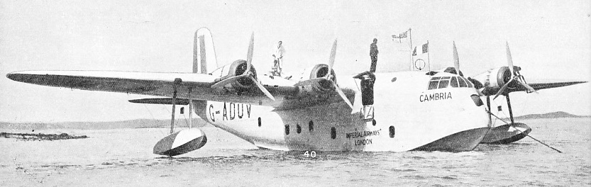 The Empire Flying boat Cambria