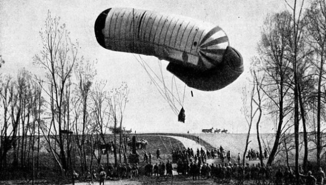 FIRST PRODUCED IN GERMANY by Major von Parseval and Captain Sigsfeld in 1896 the Drachen was a sausage-shaped balloon