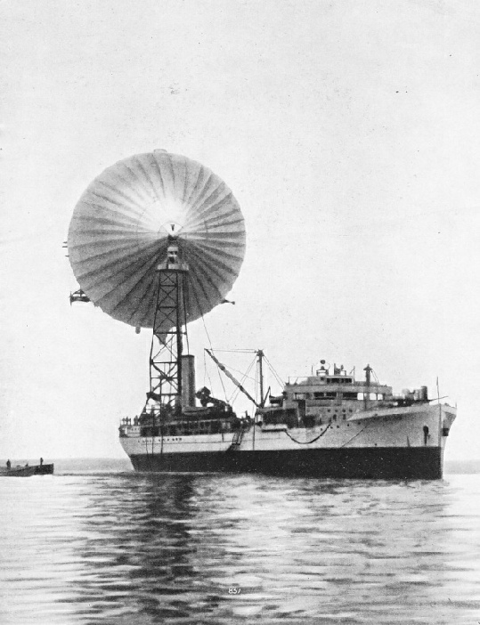 THE AMERICAN AIRSHIP AKRON and the naval tanker Patoka