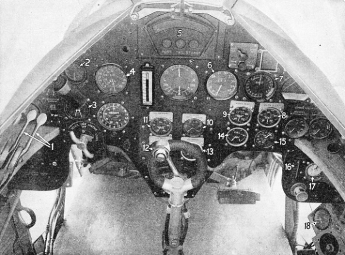 Instrument Board of the Fairey Battle
