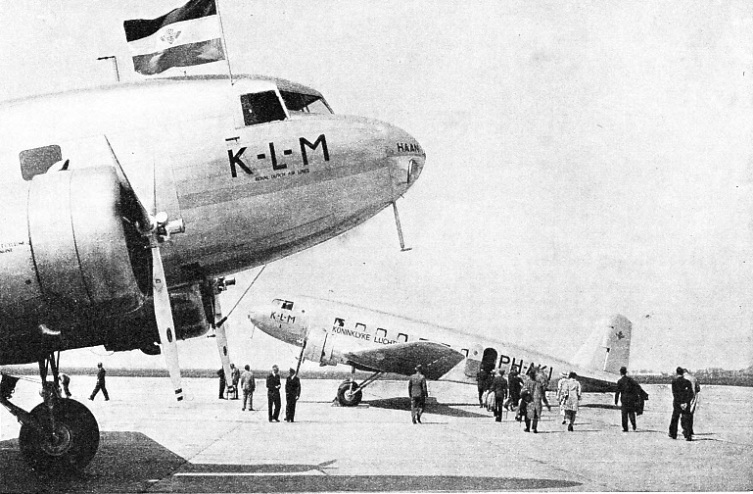 TWO AIR LINERS OF K.L.M., Royal Dutch Air Lines