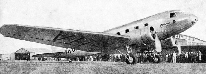 ANOTHER OF THE AIRCRAFT ON THE TASMANIAN SERVICE, the Bungana
