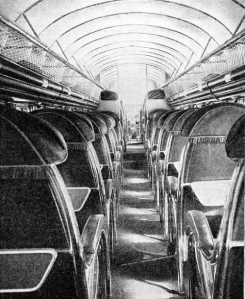 INTERIOR OF AN AIR LINER