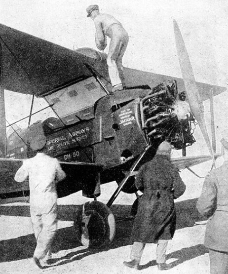 Cobhams D.H.50 being refuelled at Cairo
