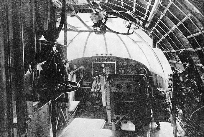 The Pilots' Cabin of the Flying Boat Cambria