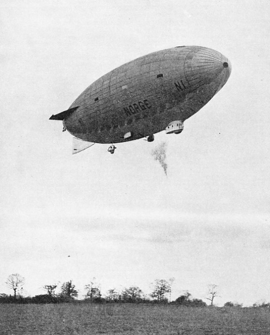 The Norge was the first semi-rigid airship of the N type designed by General Umberto Nobile