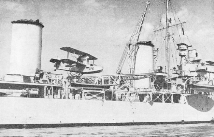 AMPHIBIAN AIRCRAFT ON THE CATAPULT OF H.M.A.S. SYDNEY