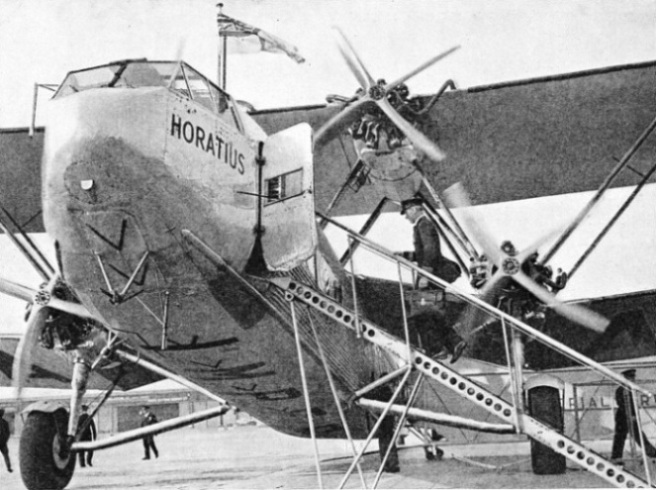 The Imperial Airways liner Horatius