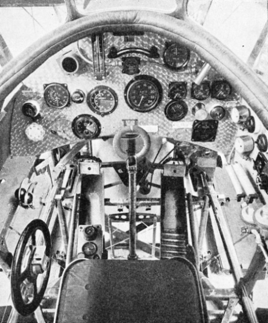 PILOT'S COCKPIT in the Houston-Westland aeroplane used in the flights over Everest in 1933