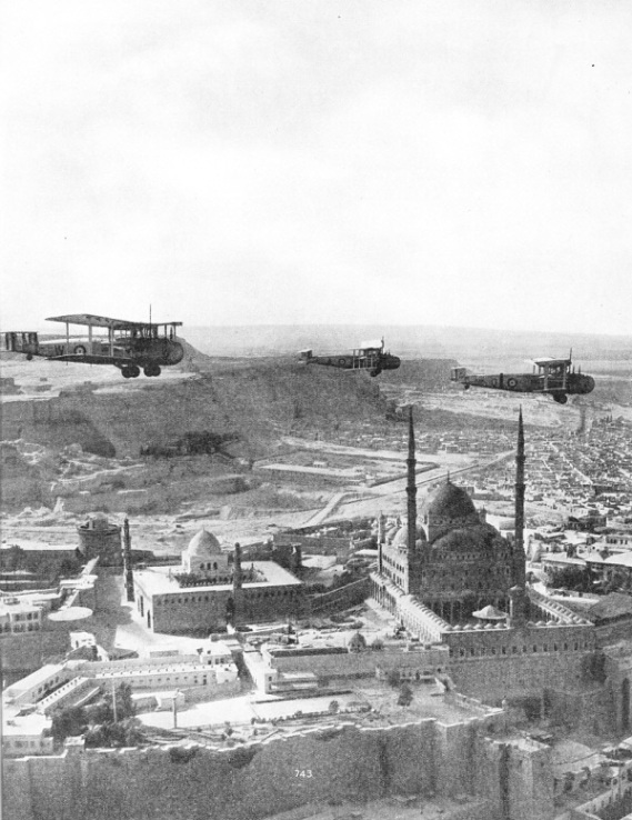 VICKERS VALENTIA TROOP CARRIERS flying above the citadel at Cairo