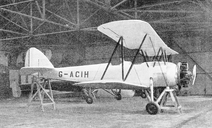 An Avro Training Biplane