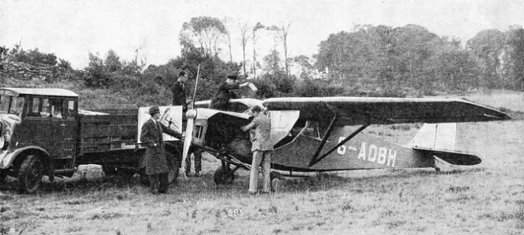 WHEN TWO PASSENGERS are to be carried in a chartered aeroplane, the Leopard Moth is a particularly suitable machine